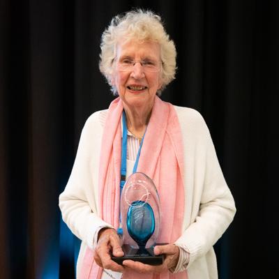 Rosemary Block with award
