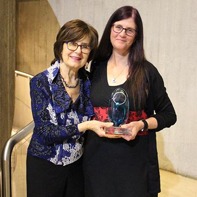 Award recipient Karen George with Do Ritch